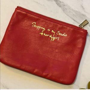 EUC- Rebecca Minkoff Red Zip Top Clutch HandBag